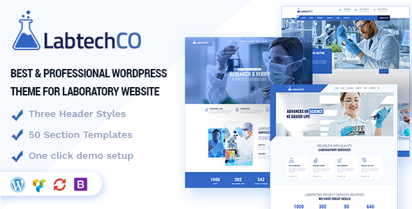 LabtechCO   Laboratory & Research WordPress Theme - Business Corporate