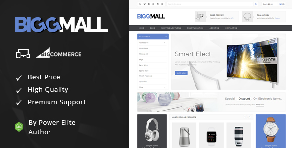 BiggMall - Multipurpose Stencil BigCommerce Theme