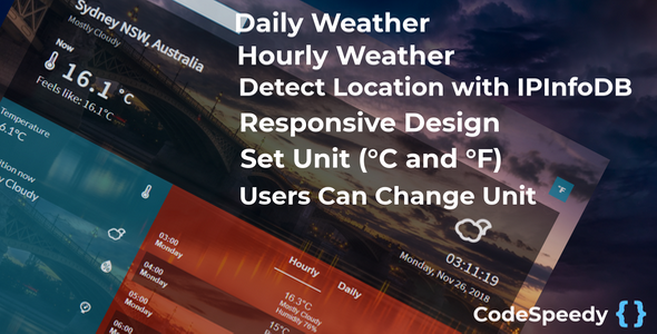 Dark Sky Weather Forecast PHP Script - CodeCanyon Item for Sale