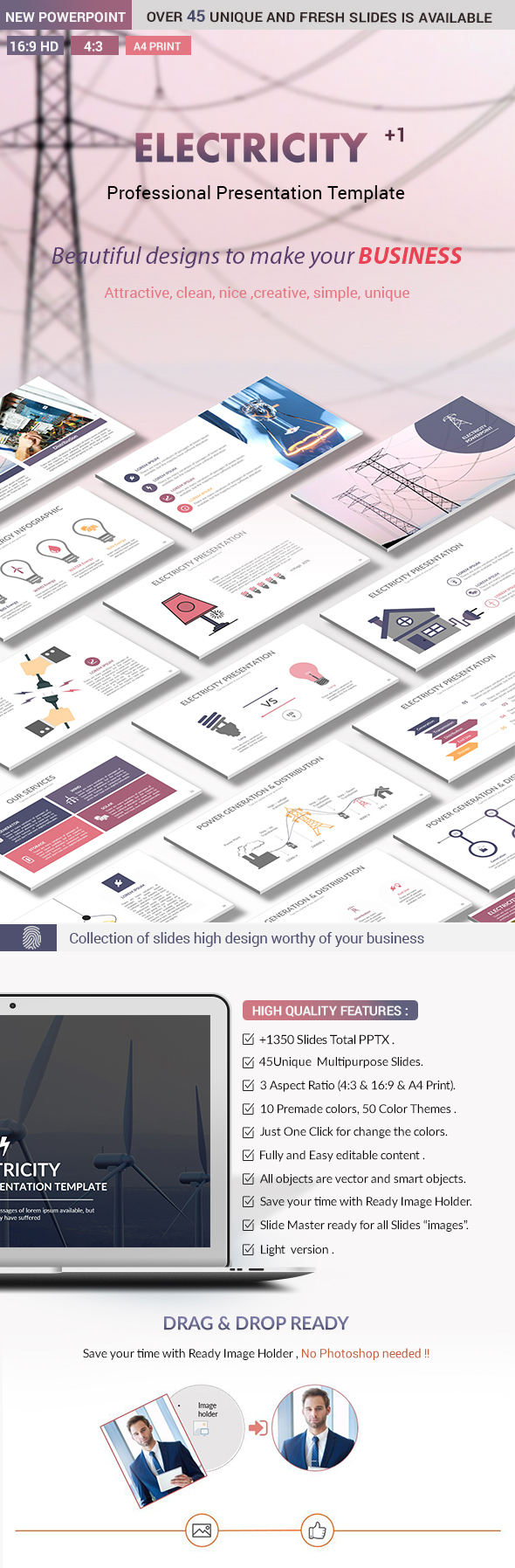 Electricity PowerPoint Presentation Template - Creative PowerPoint Templates