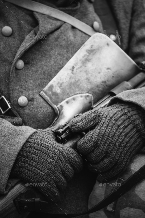 German Military Ammunition Of A German Wehrmacht Soldier At Worl - Stock Photo - Images