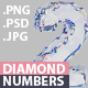 Free Download Diamond 3D Numbers with Transparent Background Nulled