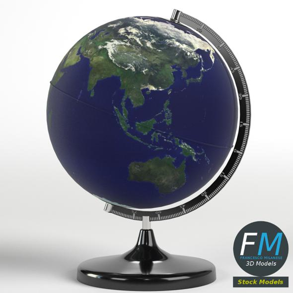 Desktop Earth world globe - 3DOcean Item for Sale
