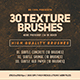 30 Texture Brushes - GraphicRiver Item for Sale