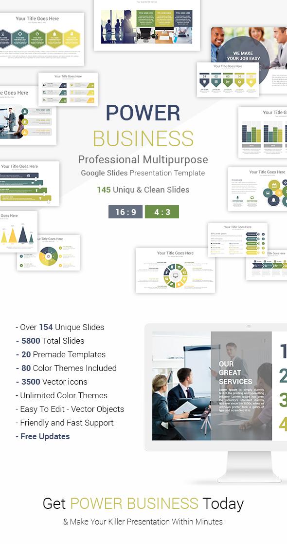 Power Business Google Slides Presentation Template - Google Slides Presentation Templates