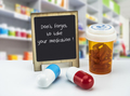 Informational Sign in a pharmacy, do not forget to take your medication - PhotoDune Item for Sale