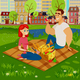 People on a Picnic - GraphicRiver Item for Sale