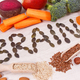 Inscription brain and healthy food for power and good memory - PhotoDune Item for Sale