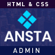Free Download Ansta – Responsive Multipurpose Admin Dashboard Template. Nulled