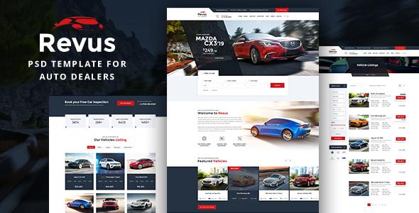 Revus - Autodealer PSD Template - Retail PSD Templates