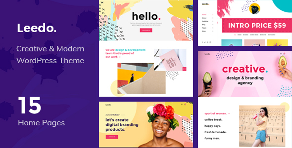 Leedo – Modern, Colorful & Creative Portfolio WordPress Theme