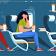 Man and Woman with Stewardess Relaxing - GraphicRiver Item for Sale