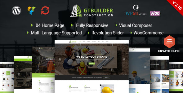 GTBuilder - Construction & Building WordPress Theme - Business Corporate