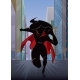 Superheroine Running in City Silhouette - GraphicRiver Item for Sale