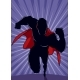 Superhero Running Abstract Background Silhouette - GraphicRiver Item for Sale