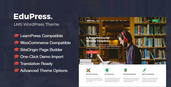 EduPress | Responsive LMS, University Education WordPress Theme - Education WordPress