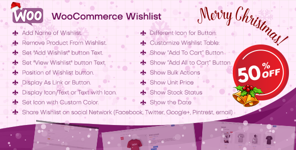 WooCommerce Wishlist Plugin - Wordpress Plugin for WooCommerce - CodeCanyon Item for Sale