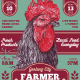 Traditional Art Rooster Farmer Market Flyer - GraphicRiver Item for Sale