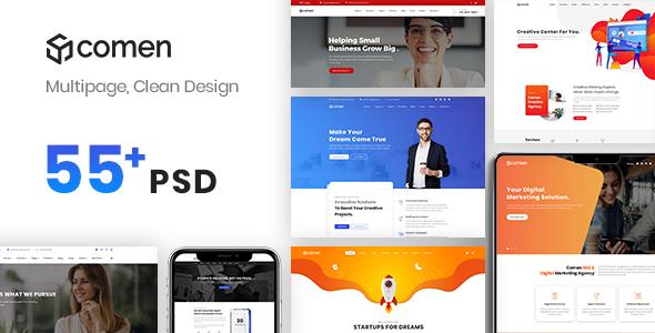 Comen | Multi-purpose Business PSD Template - Business Corporate