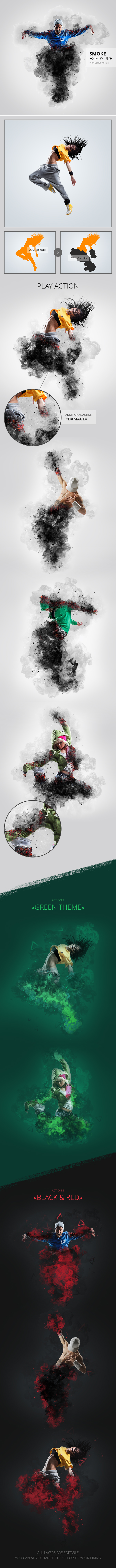 Smoke Exposure Photoshop Action - Photo Effects Actions