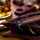 Whisky on the rocks and a cigar - PhotoDune Item for Sale