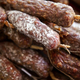 Pork sausages on a market stall - PhotoDune Item for Sale