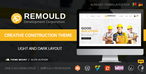 Remould | Construction & Building WordPress Theme - Business Corporate