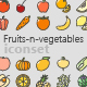 Free Download Fruits-n-Vegetables Colored Outline Icons Nulled