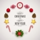 Christmas Composition with Festive Elements - GraphicRiver Item for Sale