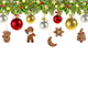 Christmas Banner with Christmas Gingerbread - GraphicRiver Item for Sale