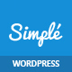 Simple | One Page Bootstrap WordPress Theme - ThemeForest Item for Sale