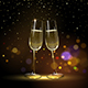 Congratulatory Background with Champagne Glasses - GraphicRiver Item for Sale