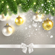 Christmas Congratulatory Background with Christmas Balls - GraphicRiver Item for Sale