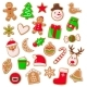 Christmas and Xmas Design of Cookies Set Vector - GraphicRiver Item for Sale
