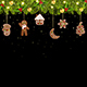 Christmas Tree Garland with Christmas Gingerbread - GraphicRiver Item for Sale