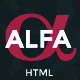 Free Download Alfa - Personal Portfolio and Virtual Business Card Nulled