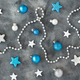 Silver and turquoise Christmas decorations - PhotoDune Item for Sale