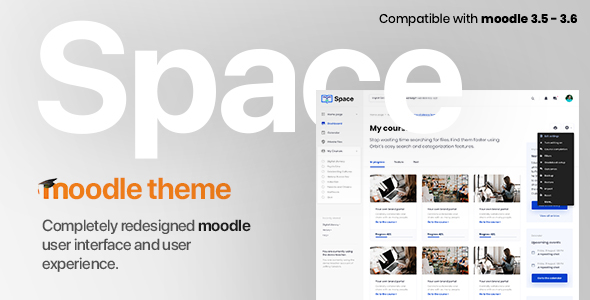 space v1 1 12 responsive premium moodle 3 5 3 6 theme based on