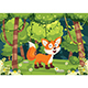 Free Download Vector Illustration of Cartoon Fox Nulled