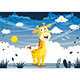 Free Download Vector Illustration Of Cartoon Giraffe Nulled