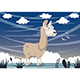 Free Download Vector Illustration Of Cartoon Llama Nulled