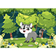 Free Download Vector Illustration of Cartoon Raccoon Nulled