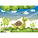 Free Download Vector Illustration of Cartoon Turtle Nulled