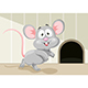 Free Download Vector Illustration of Cartoon Mouse Nulled