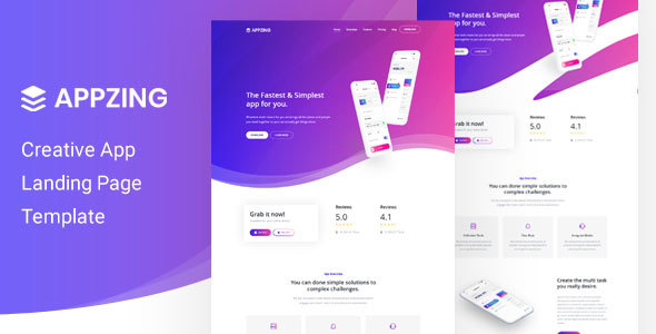 Appzing - App Landing Page - Marketing Corporate