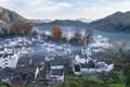 aerial view of shicheng village in late autumn - PhotoDune Item for Sale