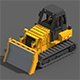 Voxel Bulldozer - 3DOcean Item for Sale