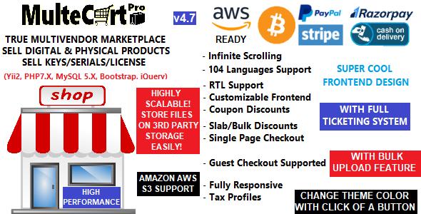 eCommerce - Multecart eCommerce Digital Multivendor marketplace shopping Cart - CMS - eCommerce - CodeCanyon Item for Sale