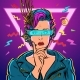 Thinker VR Glasses Woman Gamer Virtual Reality - GraphicRiver Item for Sale