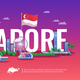Singapore Panoramic View - GraphicRiver Item for Sale